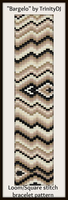 "Another new design for this week - ""Bargelo"" Loom/Square stitch bracelet pattern. To be listed tomorrow"