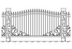 Кованые заборы, кованая ограда, художественная ковка