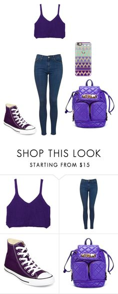 """""""Untitled #30"""" by lavinia-muniz on Polyvore featuring WithChic, Topshop, Converse, Moschino, Casetify, women's clothing, women's fashion, women, female and woman"""
