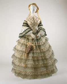 Ensemble ca. 1855 via The Costume Institute of the Metropolitan Museum of Art.