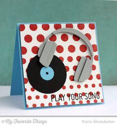Keep on Rockin', Headphones Die-namics, Donuts Die-namics - Åkesdotter #mftstamps