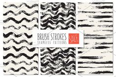 Brush Strokes Seamless Patterns SALE by Curly_Pat on @creativemarket