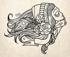 Mexican Designs Coloring Pages | Skulls « Read Less