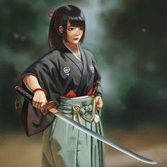 theblindninja Character Inspiration, Character Art, Character Design, Samurai Concept, Katana Girl, Female Samurai, Samurai Artwork, Ninja Girl, Medieval