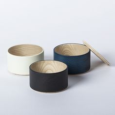 Border Stripes 'Tall' Canisters designed by studio mute | Handcrafted Artisan Japanese Homeware & Kitchenware at Ginkgo Leaf, Sydney