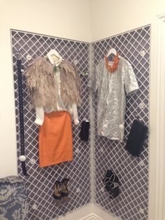 One corner of your bedroom for 2 outfits at the ready