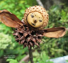 Use natural materials from your yard to create your own fairies/angels. (Garden of Len & Barb Rosen)