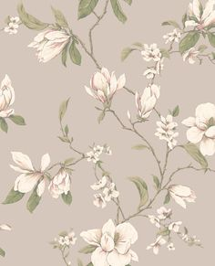 Magnolia Branch Wallpaper by York Wallpaper. We're having a big sale! Take an additional off all wallpaper and fabric! Wallpaper Stores, Home Wallpaper, Wallpaper Roll, Pattern Wallpaper, Farmhouse Wallpaper, Flor Magnolia, Magnolia Branch, Magnolia Wallpaper, Botanical Wallpaper
