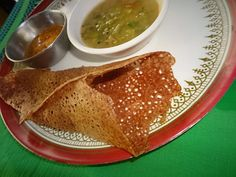 Sarahs Kitchen - South Indian dish - Ragi dhosa
