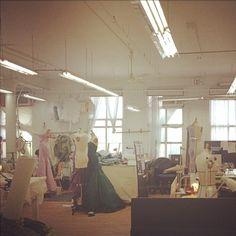 In the #zacposen #atelier today. #madeinusa #craft @CFDA