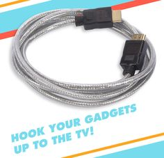 HDMI to hook up your TV for movie nights!