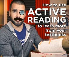 How to learn more from your textbooks using active reading strategies!