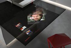 Modern kitchen surface with Samsung Galaxy Tablet image Gadgets And Gizmos, New Gadgets, Cool Gadgets, Küchen Design, Interior Design, Milan Design, Design Ideas, Interface Web, Kitchen Surface