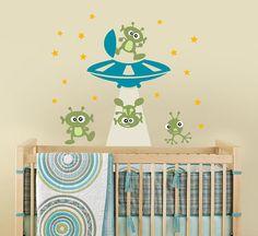 Alien Invasion Vinyl Wall Decal for Nursery