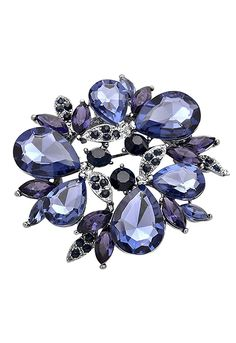 Rosemarie Collections Women's Crystal Pendant and Brooch Pin 'Blue Garland' ** Remarkable product available now. : Jewelry Brooches Pins