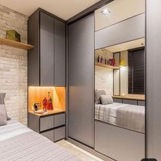 47 Minimalist Storage Ideas For Your Small Bedroom The space beneath your bed provides a great deal of possibilities to store things. With just a little region, you're necessary to create a cozy bedroom design along with having the capacity t… Bedroom Cupboard Designs, Bedroom Cupboards, Wardrobe Design Bedroom, Bedroom Bed Design, Bedroom Furniture Design, Home Room Design, Closet Bedroom, Bedroom Decor, Bedroom Ideas