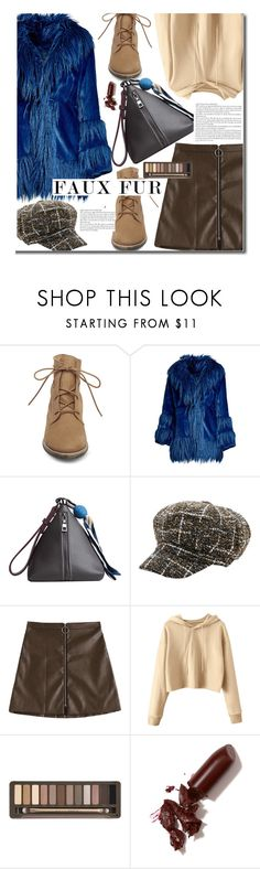 """""""Wow Factor: Faux Fur"""" by justkejti ❤ liked on Polyvore featuring Steve Madden, Anna Sui, Urban Decay and LAQA & Co."""