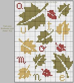 free pattern - autumn leaves autmne-.jpg