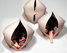 Hush felt pod by Freyja Sewell