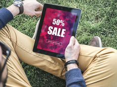 Hipster using tablet for shopping by CustomStudio on @creativemarket