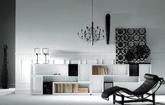 Estantería en blanco. Ideal como mueble para tu salón Black And White, Home Decor, Weapons Guns, Consoles, Cozy, House Decorations, Yurts, Architecture, Home