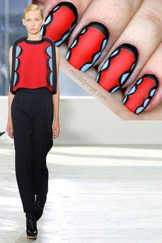 Delpozo Fall '14 #nail #nails #nailart
