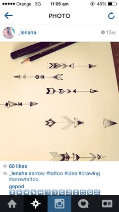 Arrow designs | good idea for a tattoo, like to incorporate this in my tattoo