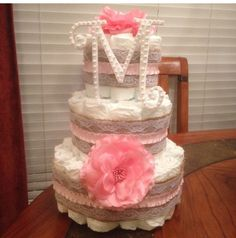 Add some pumpkins to this...and it's the PERFECT diaper cake!