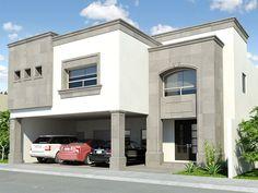 Fachada de casa estilo clasico for the home дом Bungalow Exterior, Dream House Exterior, Dream House Plans, Duplex Design, Modern House Design, House Front, My House, House Elevation, House Entrance