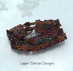 Treasure Chest Freeform Peyote Cuff