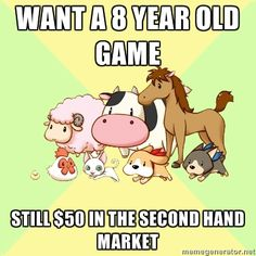 Want a 8 year old game: Still $50 in the second hand market