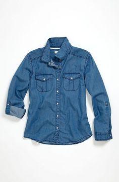 Tucker + Tate 'Angie' Chambray Shirt (Big Girls) available at #Nordstrom