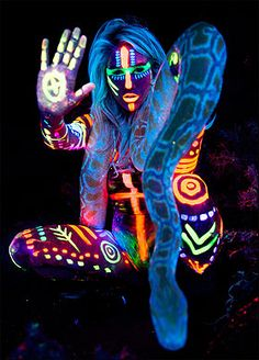 Festivals are your one big chance to go crazy with the body paint!