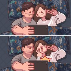 Love Cartoon Couple, Cute Couple Comics, Couples Comics, Cute Love Cartoons, Cute Couple Art, Anime Love Couple, Cute Comics, Cute Anime Couples, Relationship Comics