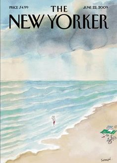 """Sempé, famous for """"Le Petit Nicolas"""" and front page pictures on The New Yorker, opened France's premier comic book festival. The New Yorker, New Yorker Covers, Book Festival, Secluded Beach, Magazine Art, Magazine Covers, The Secret History, Humor Grafico, Books"""