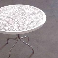 Schon Tavolo Rotondo JOIN 70 In Acciaio, Medes Metal Design