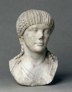 Portrait of Octavia, wife of Nero, 1-100                                       Italy, Roman, 1st Century