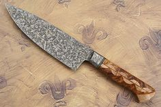 Michael Rader, Chef's Knife with Maple and Amboyna Burl (6 1/2 in.) One of a kind Beauty.. TopChef-Tech.blogspot.com