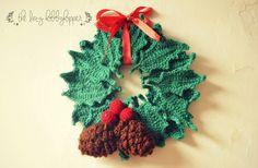 Crochet Christmas Wreath - free pattern