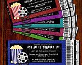Movie Night Birthday Invitation - DIY - Printable (Many Colors)