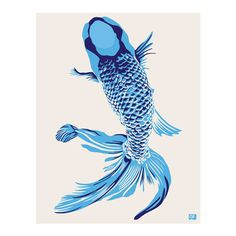 I pinned this Koi Print II from the emma at home event at Joss and Main!