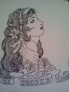 Finished Gypsy Tattoo Design by ~samanthalyn1 on deviantART