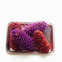 Red Hat Society Store Blog: Glitter Pine Cones easy step-by-step tutorial!