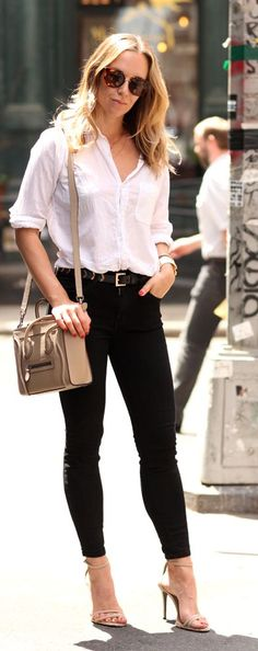 Black And White Casual Chic Style by Brooklyn Blonde