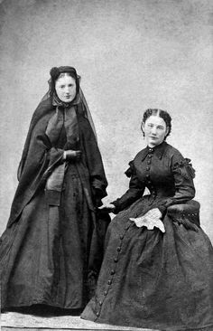 CDV - dated on reverse Jan. 1866 -Mansfield & Cos. City Gallery. Meine (Minnie) Rosenbaum (on left) born 25 December 1843, younger sister to Lieut. Henry A. Rosenbaum with an unidentified friend. Minnie is wearing deep mourning for her father Jacob Rosembaum, who died 21 Dec. 1865. Minnie married Walter Jewett in 1873, and the family lived in Cumberland, Maryland