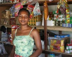 Women's Micro-Credit, ECG Help Now. Young Woman in Shop  partnersintl.org Female Empowerment, To Focus, Young Women, Woman, Shop, Women, Store