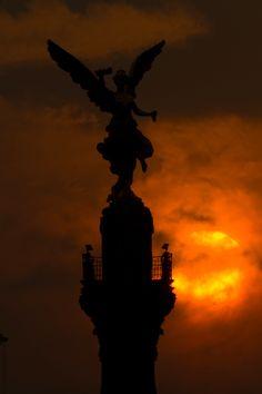Ángel de la Independencia en la Ciudad de México. Fotografía. Pablo Salazar S.