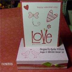 Love you Much Free Standing pop-up card by Ruthiemarykay - Cards and Paper Crafts at Splitcoaststampers