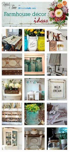Knick of Time: 20+ Thrifty Farmhouse Decor Ideas via Hometalk