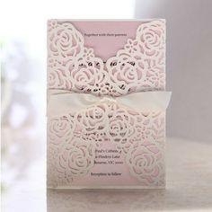 Victorian Lace Laser Cut Wrap - Wedding Invitations - BH3605 - 30382